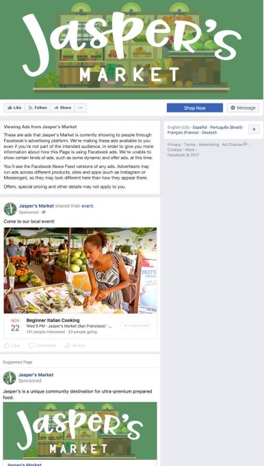 Facebook ADS trasparenza