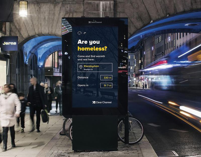 Stoccolma: quando la pubblicità aiuta i senzatetto